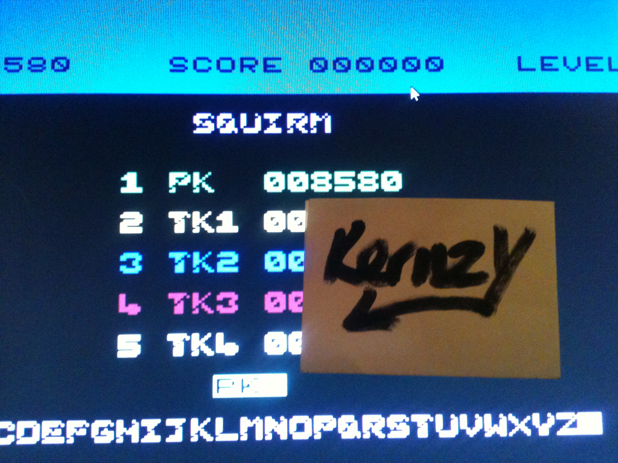 kernzy: Squirm (Commodore 64 Emulated) 8,580 points on 2015-05-07 19:57:22