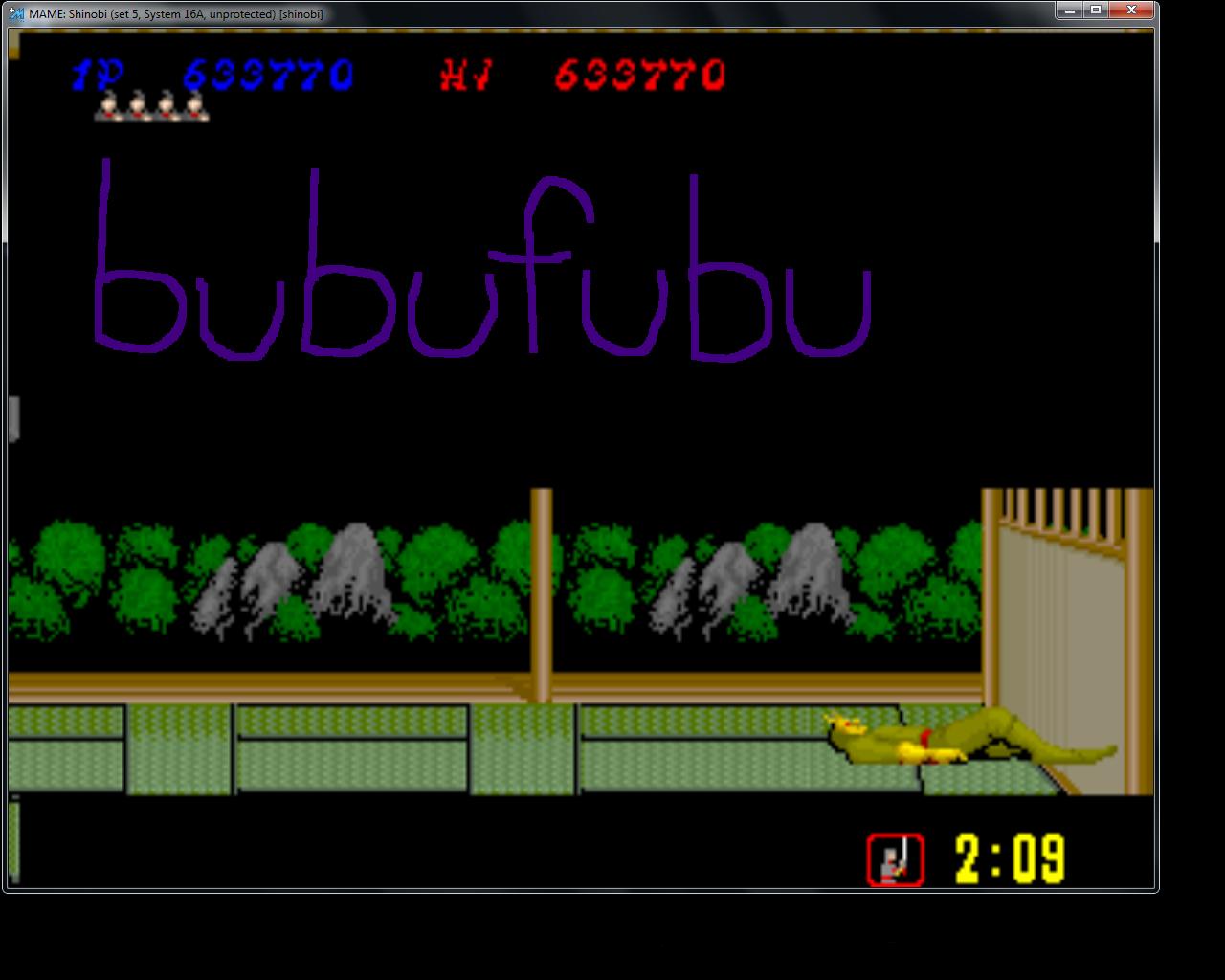 bubufubu: Shinobi (Arcade Emulated / M.A.M.E.) 633,770 points on 2015-05-07 20:55:07