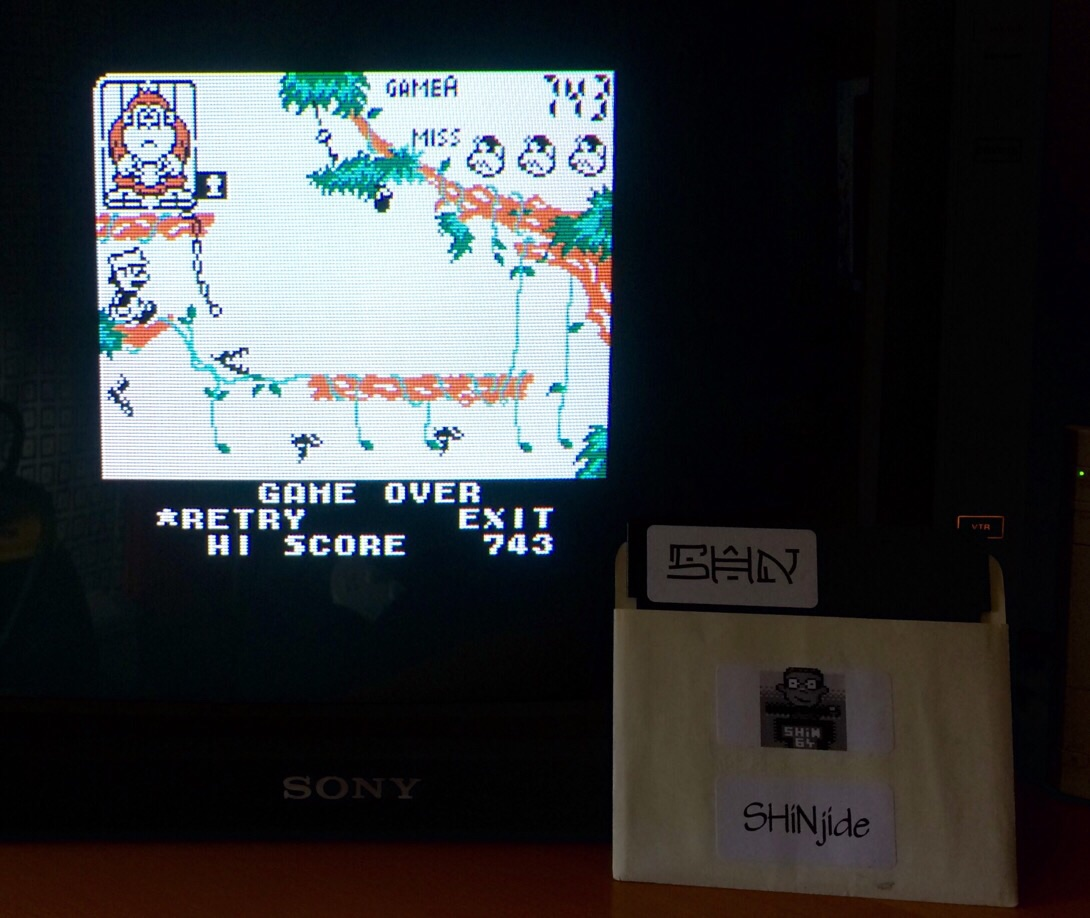 SHiNjide: Game & Watch Gallery 3: Donkey Kong Jr: Classic: Easy (Game Boy Color Emulated) 743 points on 2015-05-08 02:58:08