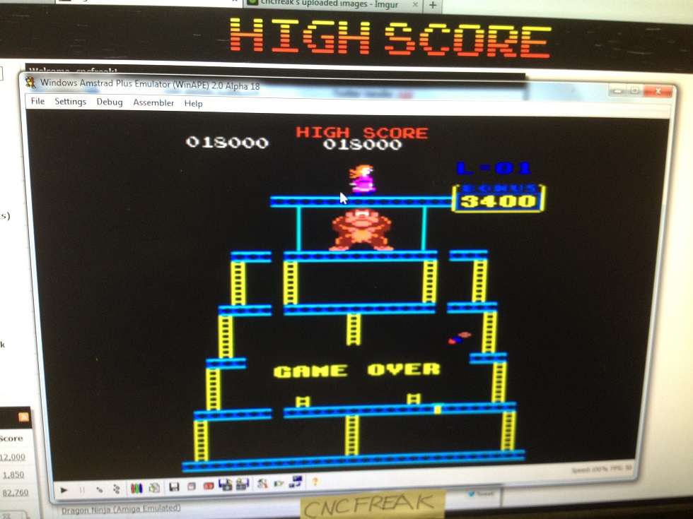 Donkey Kong 18,000 points
