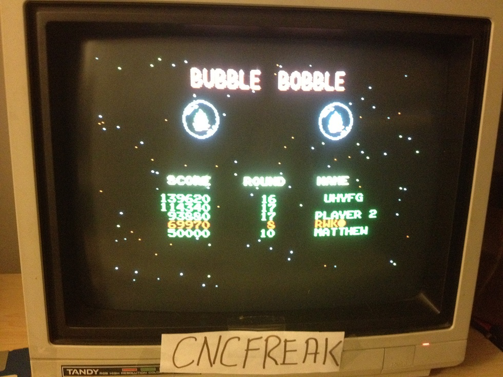 Bubble Bobble 69,970 points