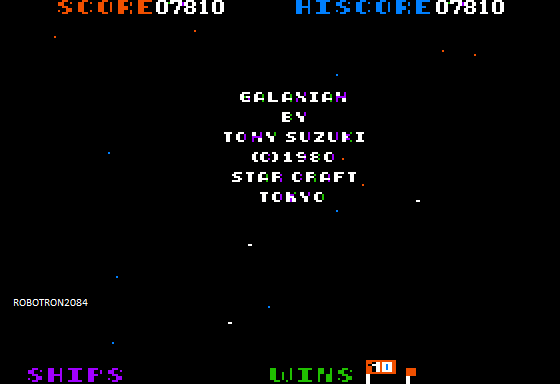 Galaxian [Star Craft] 7,810 points