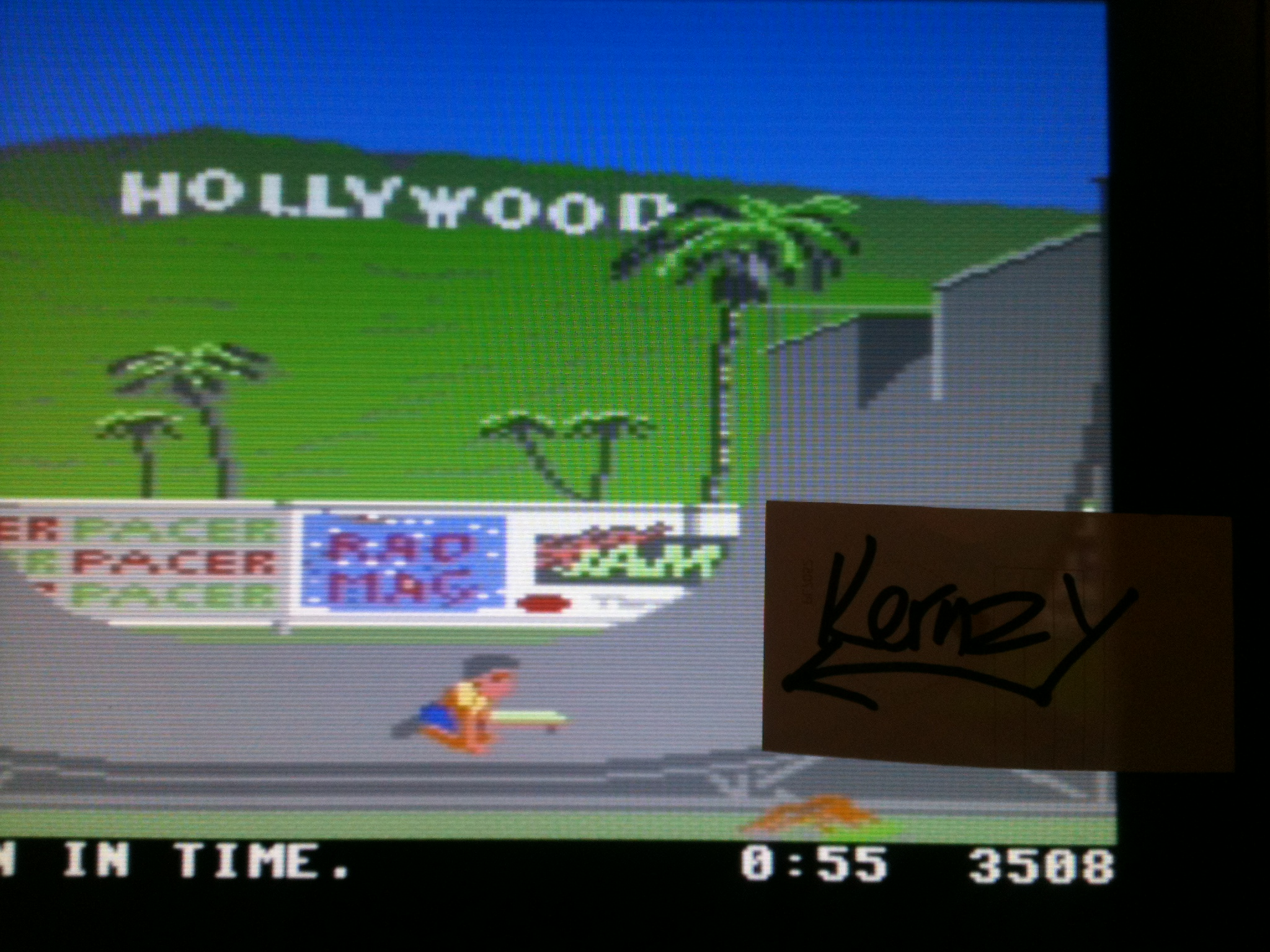 kernzy: California Games: Half Pipe (Commodore 64 Emulated) 3,508 points on 2015-05-08 15:18:13