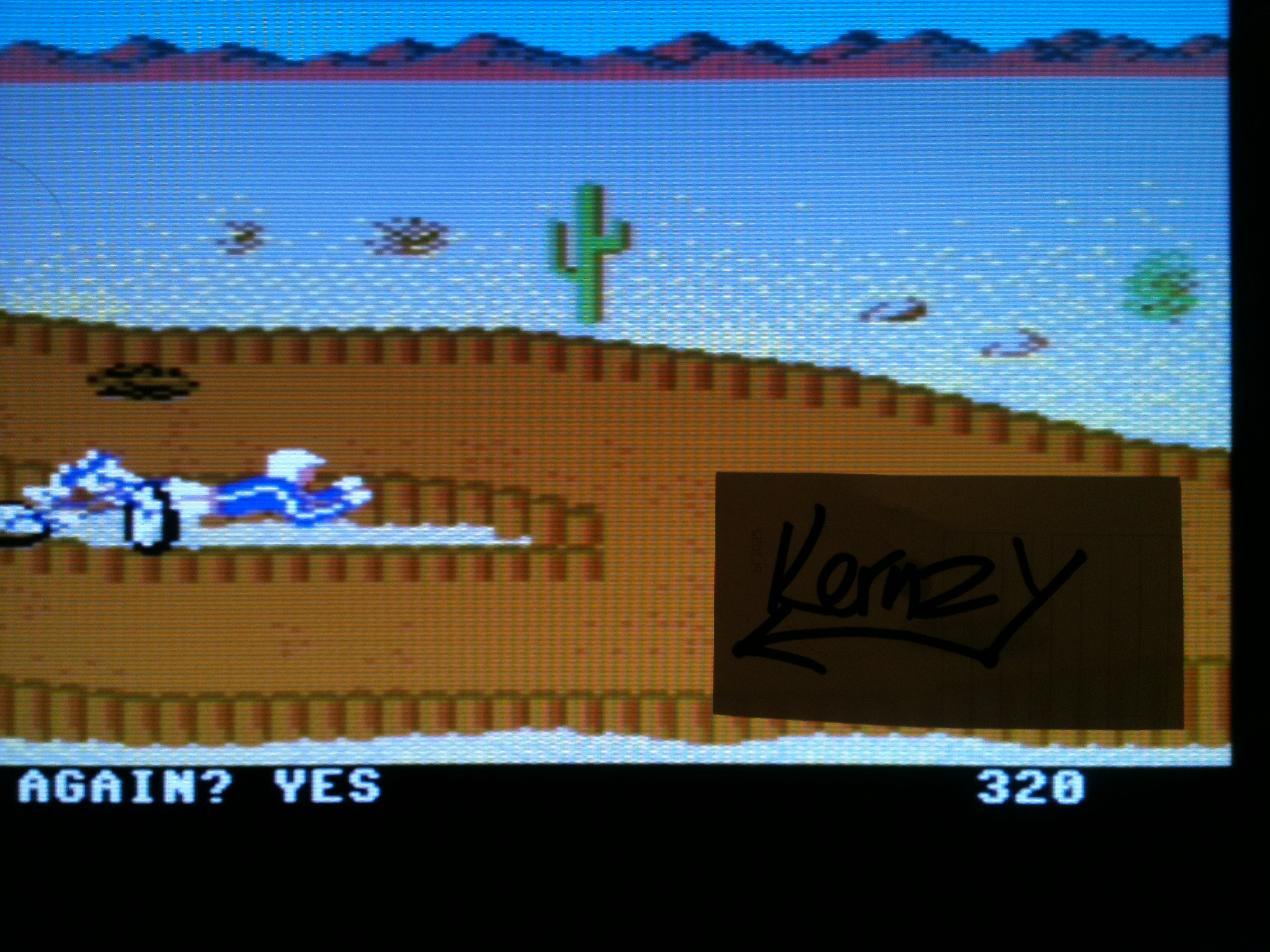 kernzy: California Games: BMX (Commodore 64 Emulated) 320 points on 2015-05-08 15:20:00