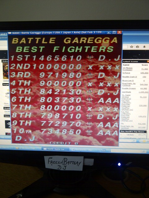 Battle Garregga 1,465,610 points