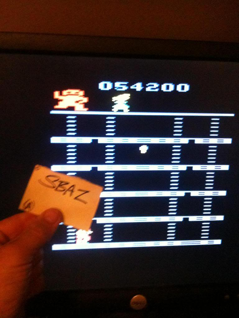 Donkey Kong 54,200 points