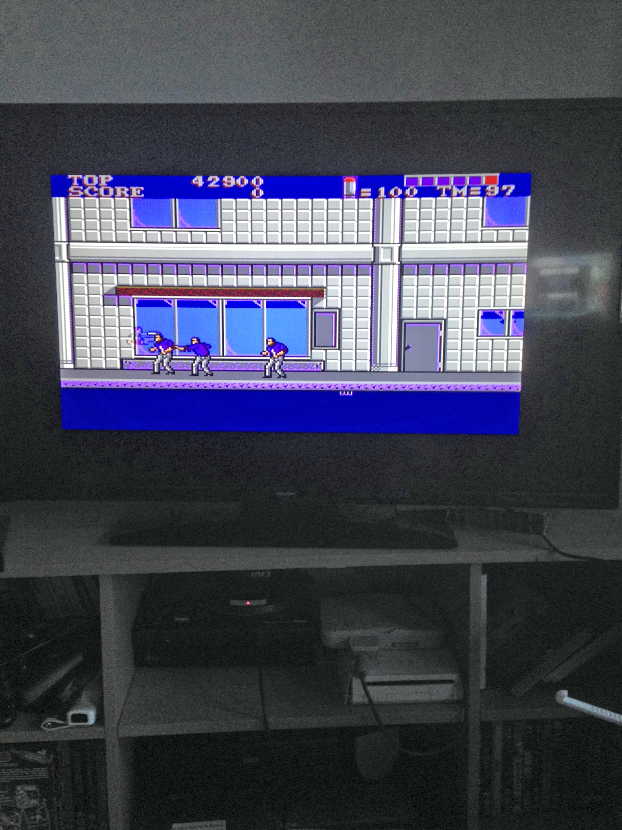 mechafatnick: E-Swat (Sega Master System) 42,900 points on 2015-05-11 00:06:54