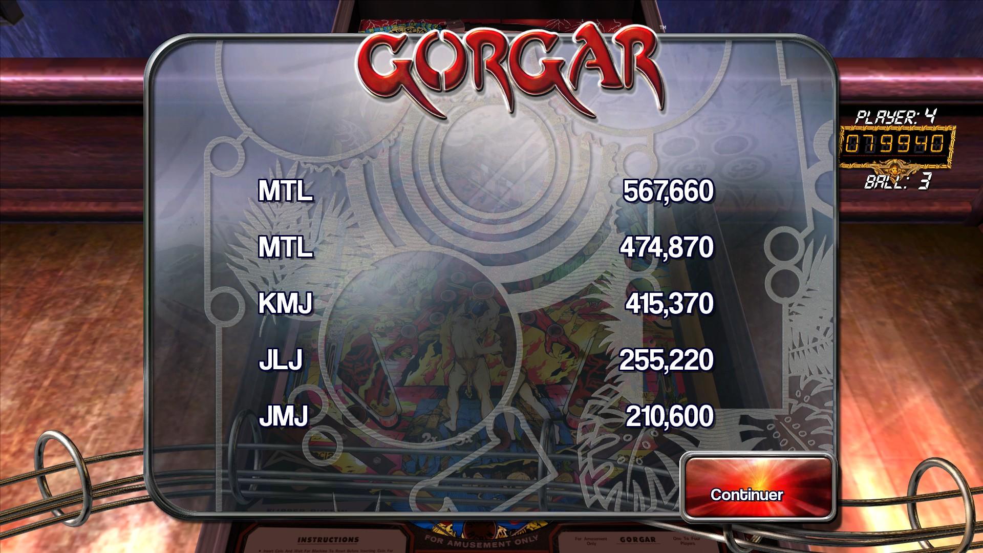 Mantalow: Pinball Arcade: Gorgar (PC) 567,660 points on 2015-05-11 06:21:53
