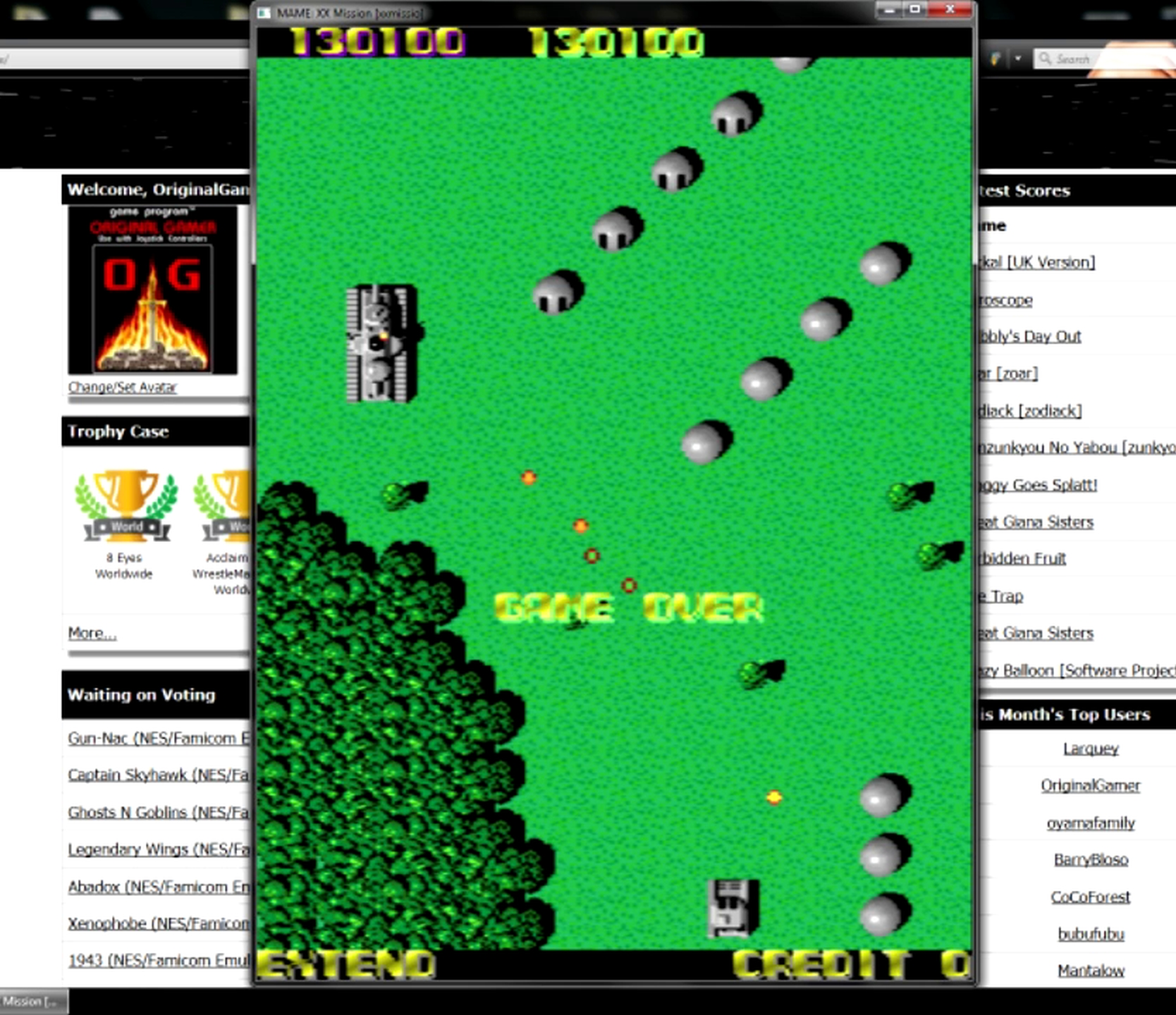 OriginalGamer: XX Mission [xxmissio] (Arcade Emulated / M.A.M.E.) 130,100 points on 2015-05-11 13:16:41