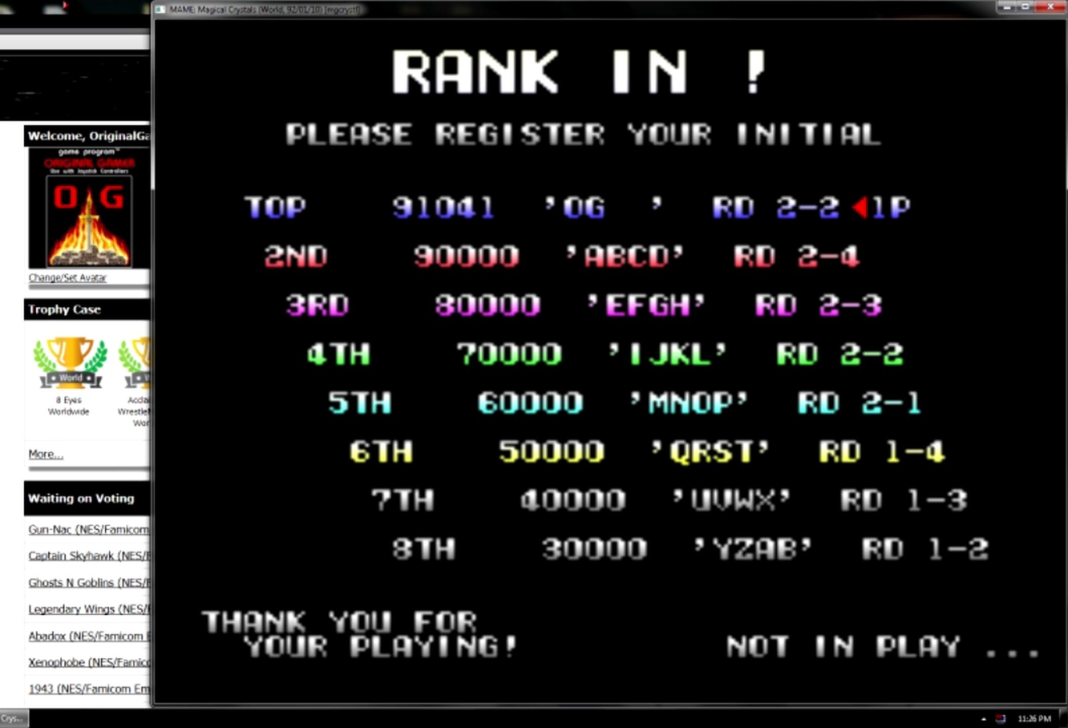 OriginalGamer: Magical Crystals [mgcrystl] (Arcade Emulated / M.A.M.E.) 91,041 points on 2015-05-11 13:44:04