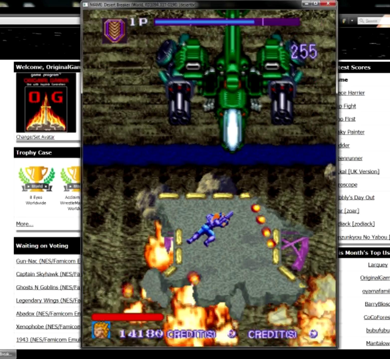 OriginalGamer: Desert Breaker [desertbr] (Arcade Emulated / M.A.M.E.) 14,180 points on 2015-05-11 13:54:30