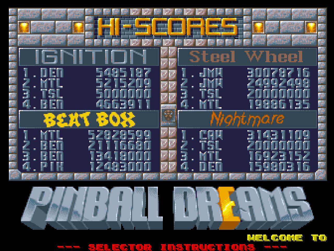 Mantalow: Pinball Dreams: Beat Box (Amiga Emulated) 52,828,599 points on 2015-05-12 06:50:08