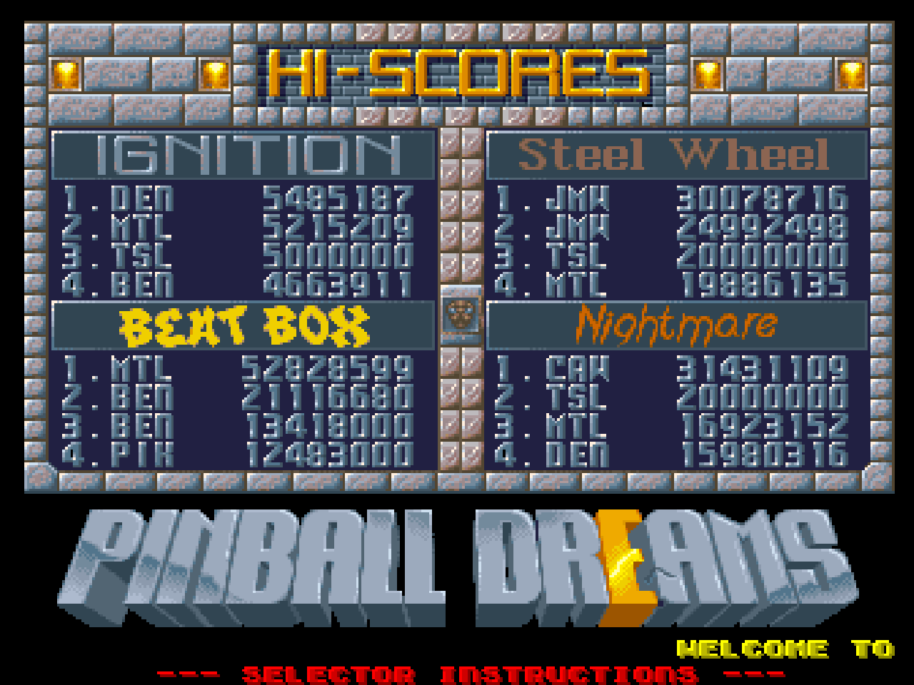 Mantalow: Pinball Dreams: Nightmare (Amiga Emulated) 16,923,152 points on 2015-05-12 06:50:55