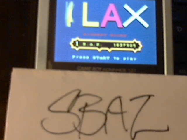 Klax 1,637,505 points