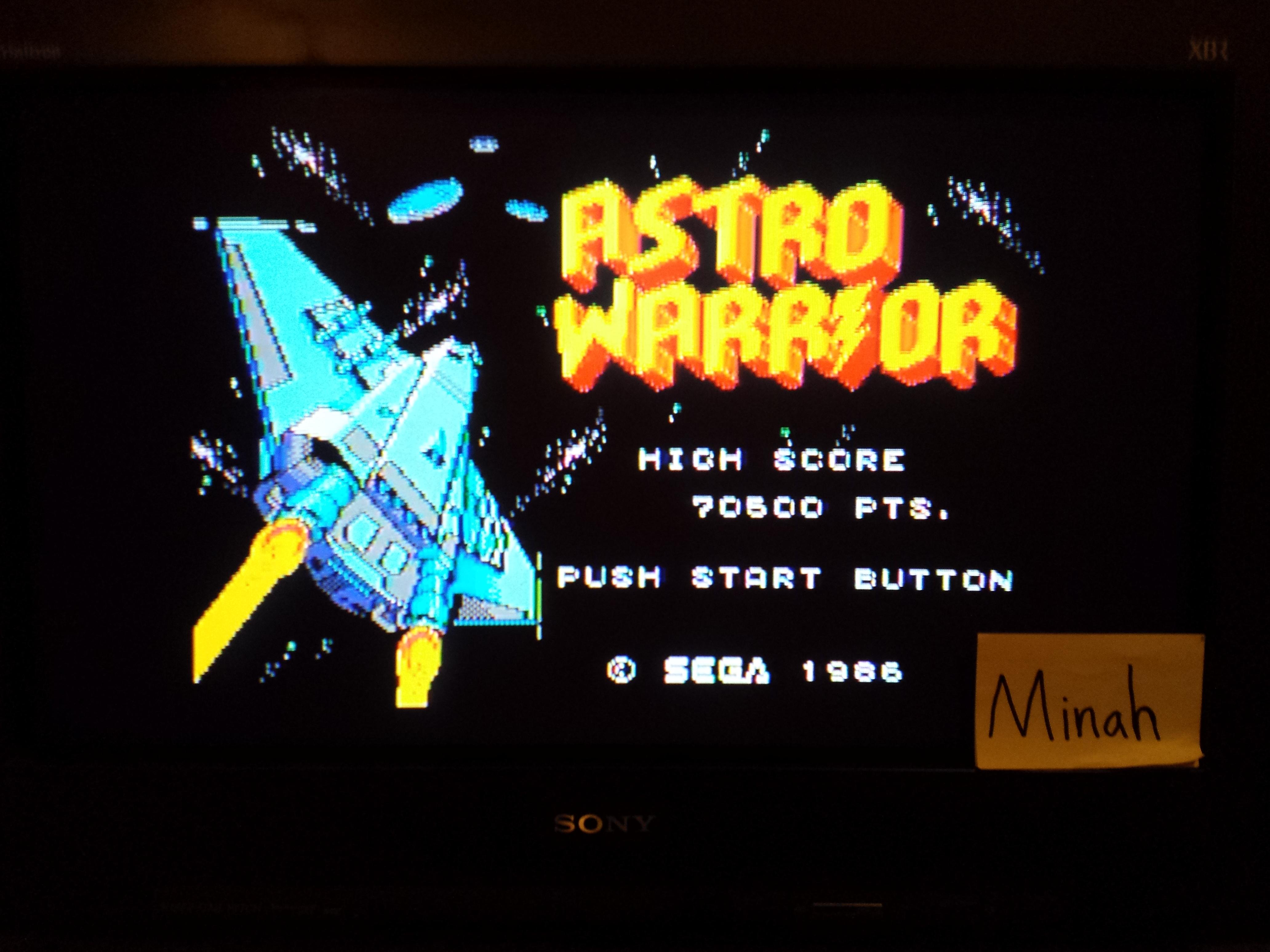 Astro Warrior 70,500 points