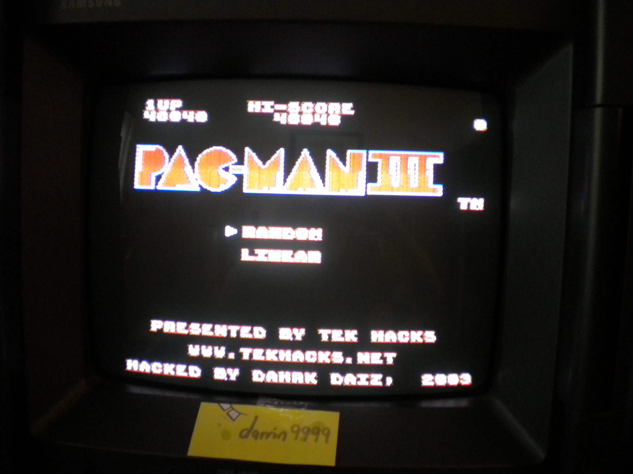 Pac-Man III  [Random] 40,040 points