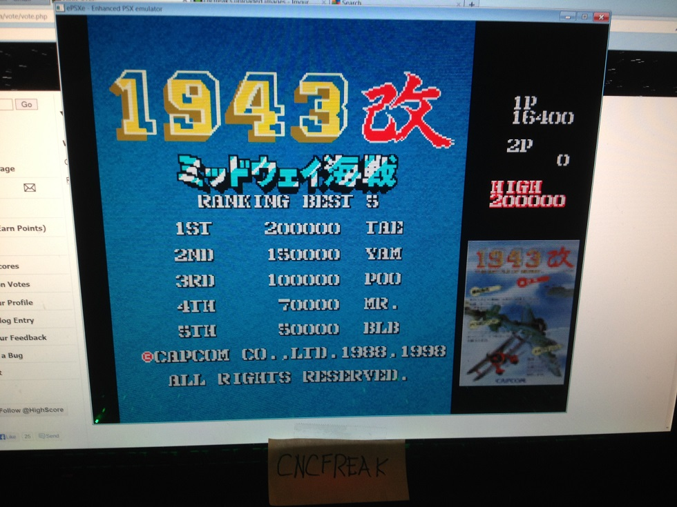 Capcom Generations 1: 1943 Kai 16,400 points