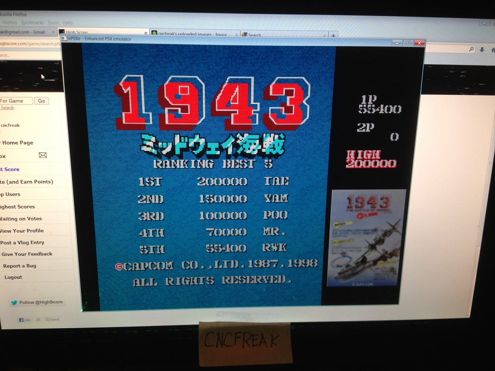 Capcom Generations 1: 1943 55,400 points