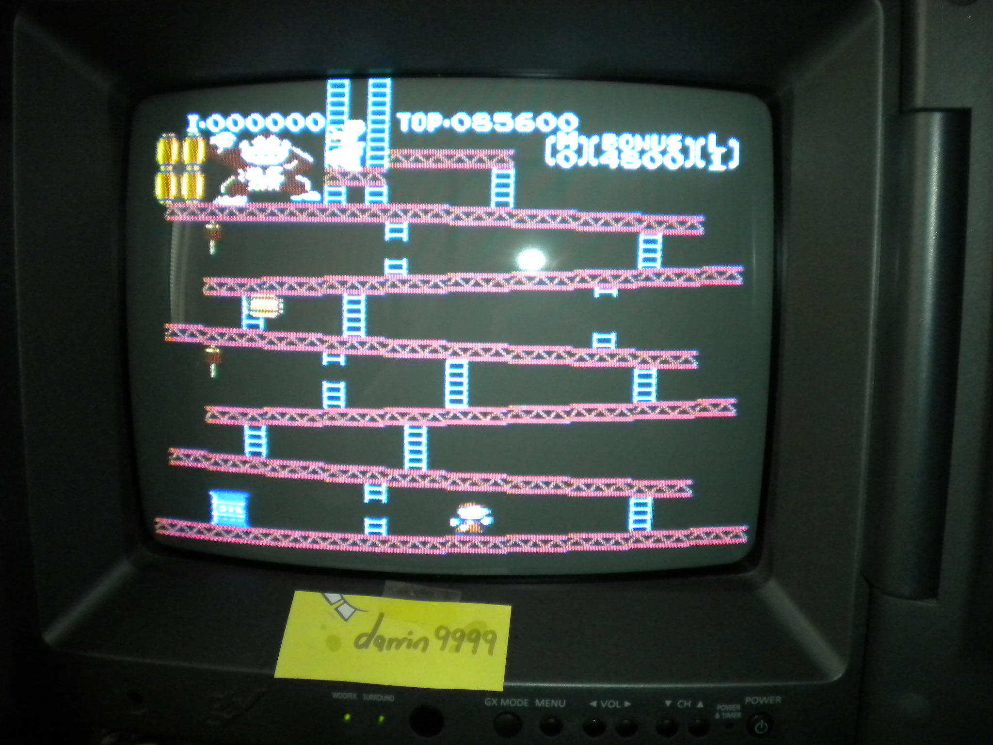 Donkey Kong 85,600 points
