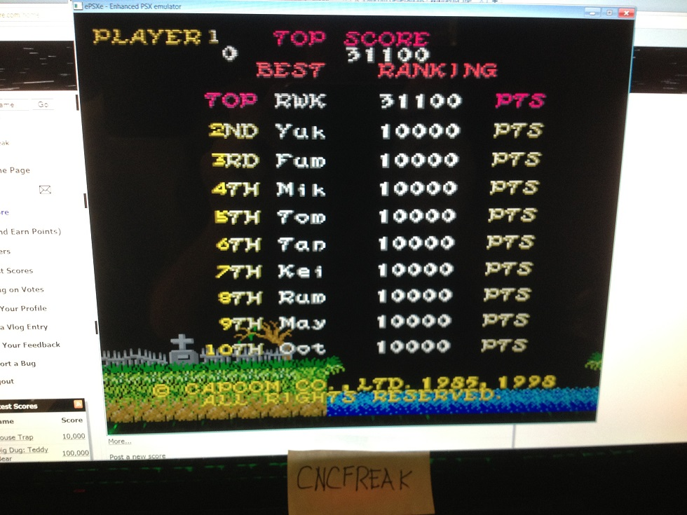 Capcom Generations 2: Ghost N Goblins 31,100 points