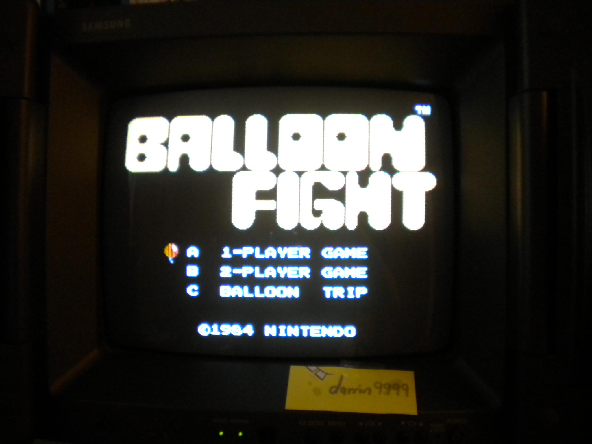 Balloon Fight 41,600 points