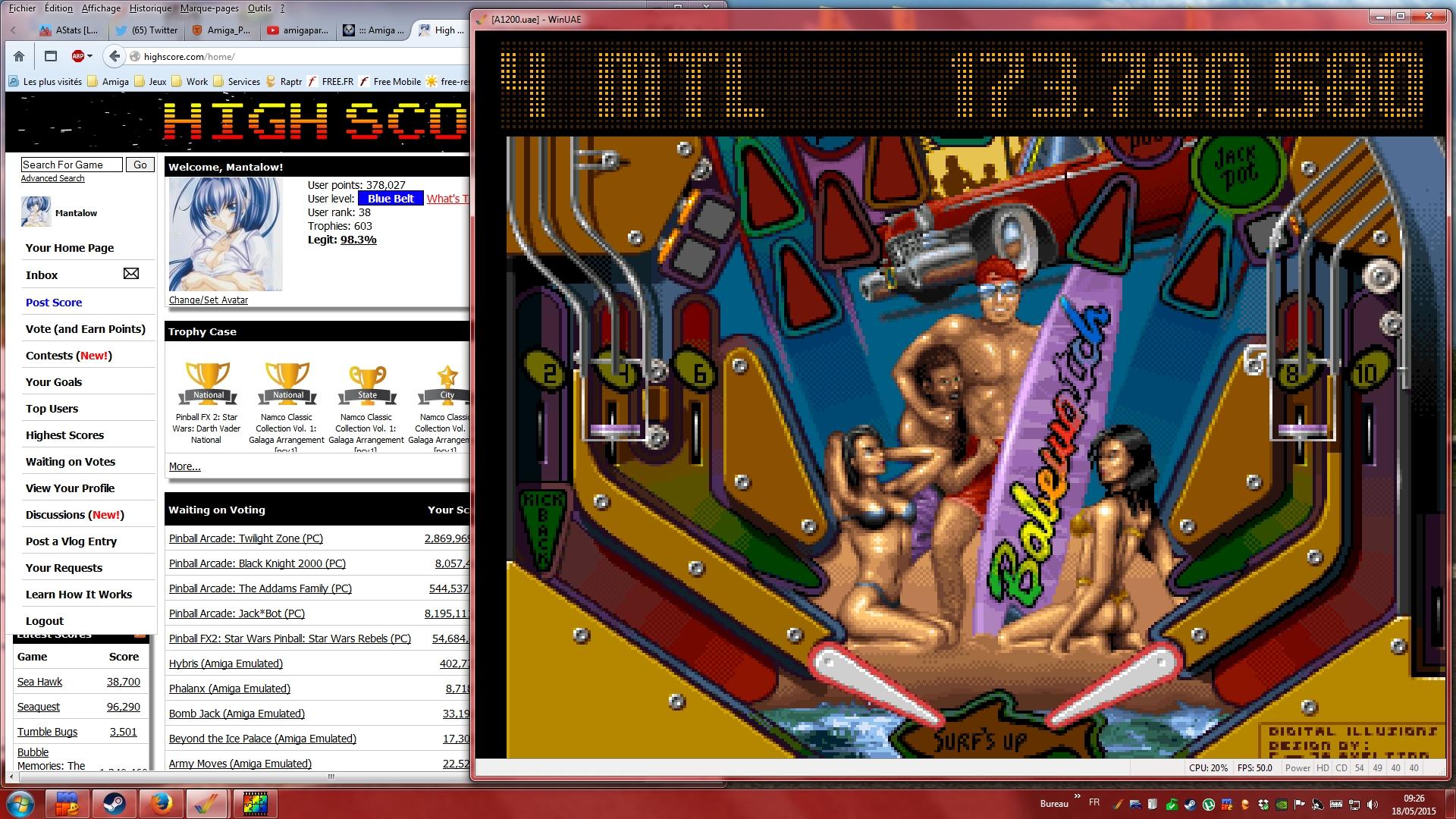 Mantalow: Pinball Illusions: BabeWatch (Amiga Emulated) 173,700,580 points on 2015-05-18 02:37:49