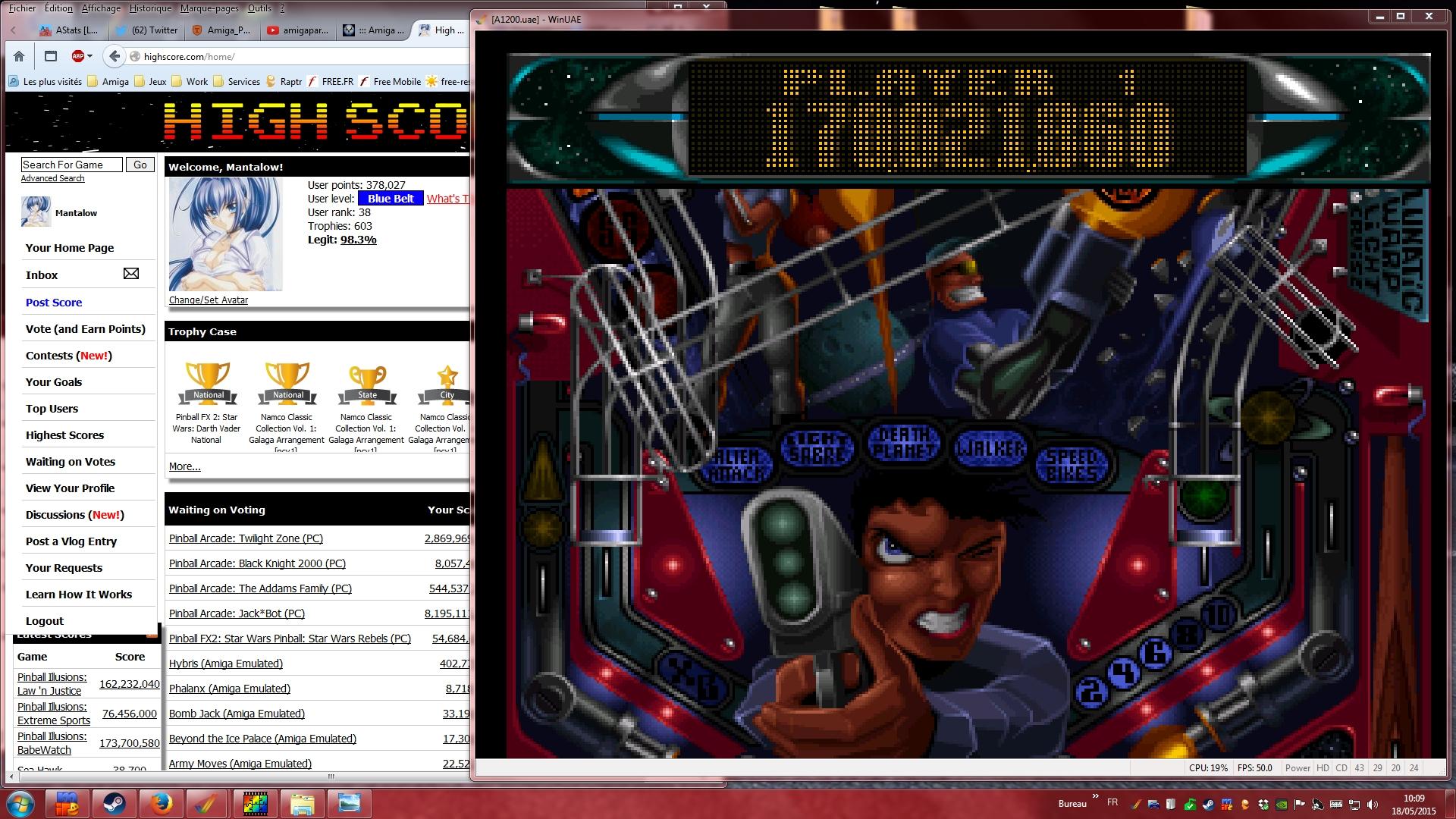 Mantalow: Slam Tilt: Ace of Space (Amiga Emulated) 170,021,860 points on 2015-05-18 03:20:04