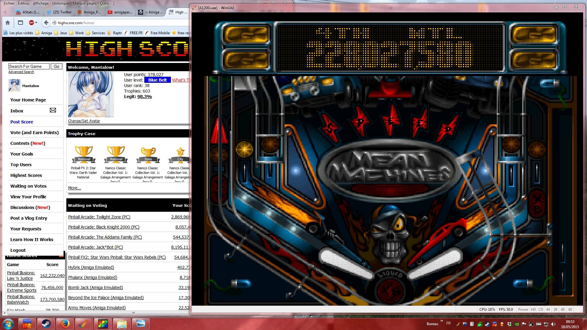 Mantalow: Slam Tilt: Mean Machines (Amiga Emulated) 228,027,580 points on 2015-05-18 03:21:25