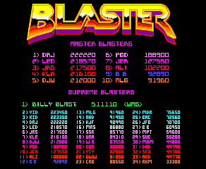 BarryBloso: Blaster (Arcade Emulated / M.A.M.E.) 92,890 points on 2015-05-21 07:24:09