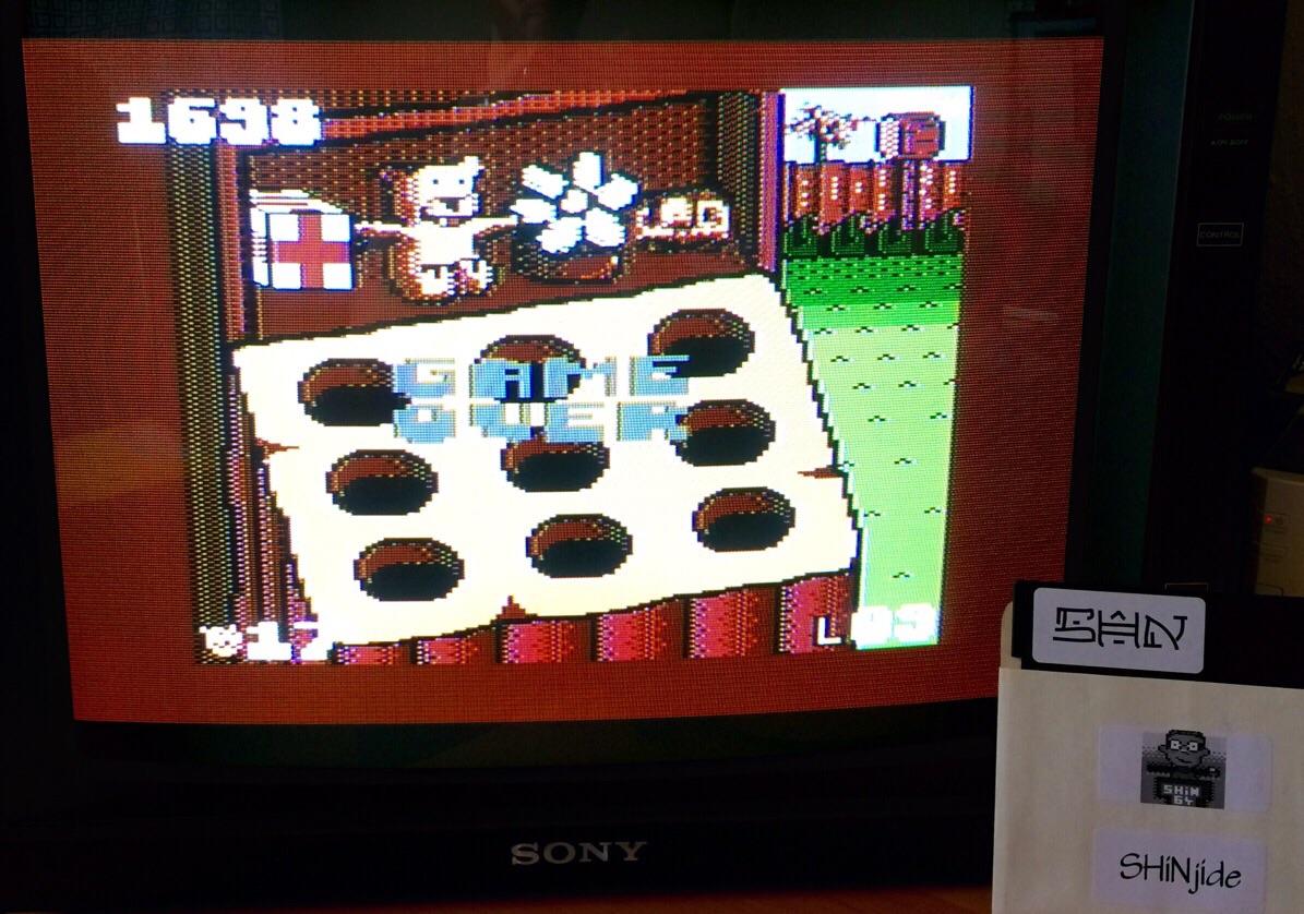 SHiNjide: Animal Party (Atari 400/800/XL/XE) 1,698 points on 2015-05-22 11:31:04