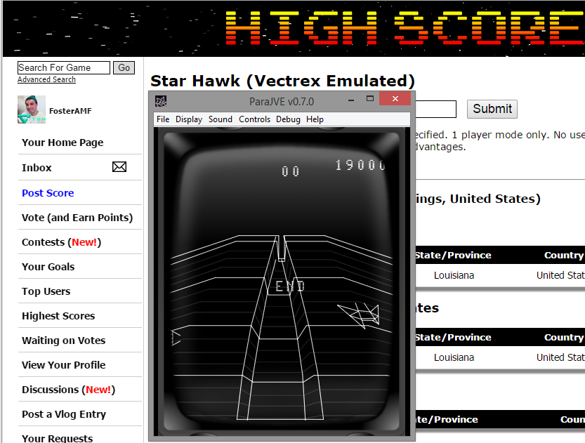 FosterAMF: Star Hawk (Vectrex Emulated) 19,000 points on 2015-05-23 13:41:16