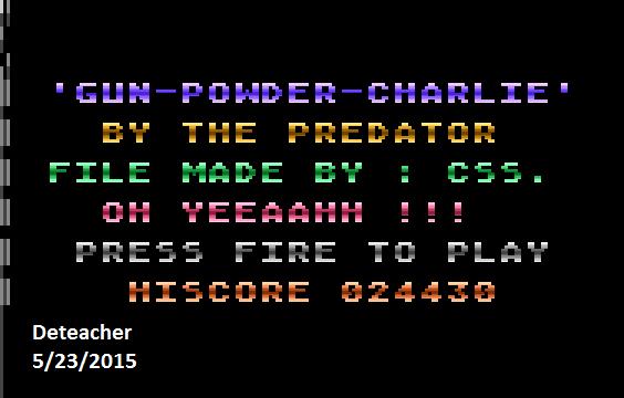 Deteacher: Gun-Powder-Charlie (Atari 400/800/XL/XE Emulated) 24,430 points on 2015-05-23 20:41:54