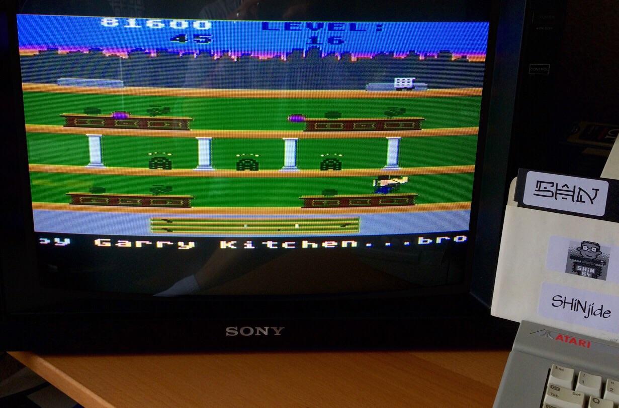 SHiNjide: Keystone Kapers (Atari 400/800/XL/XE) 81,600 points on 2015-05-25 03:59:52