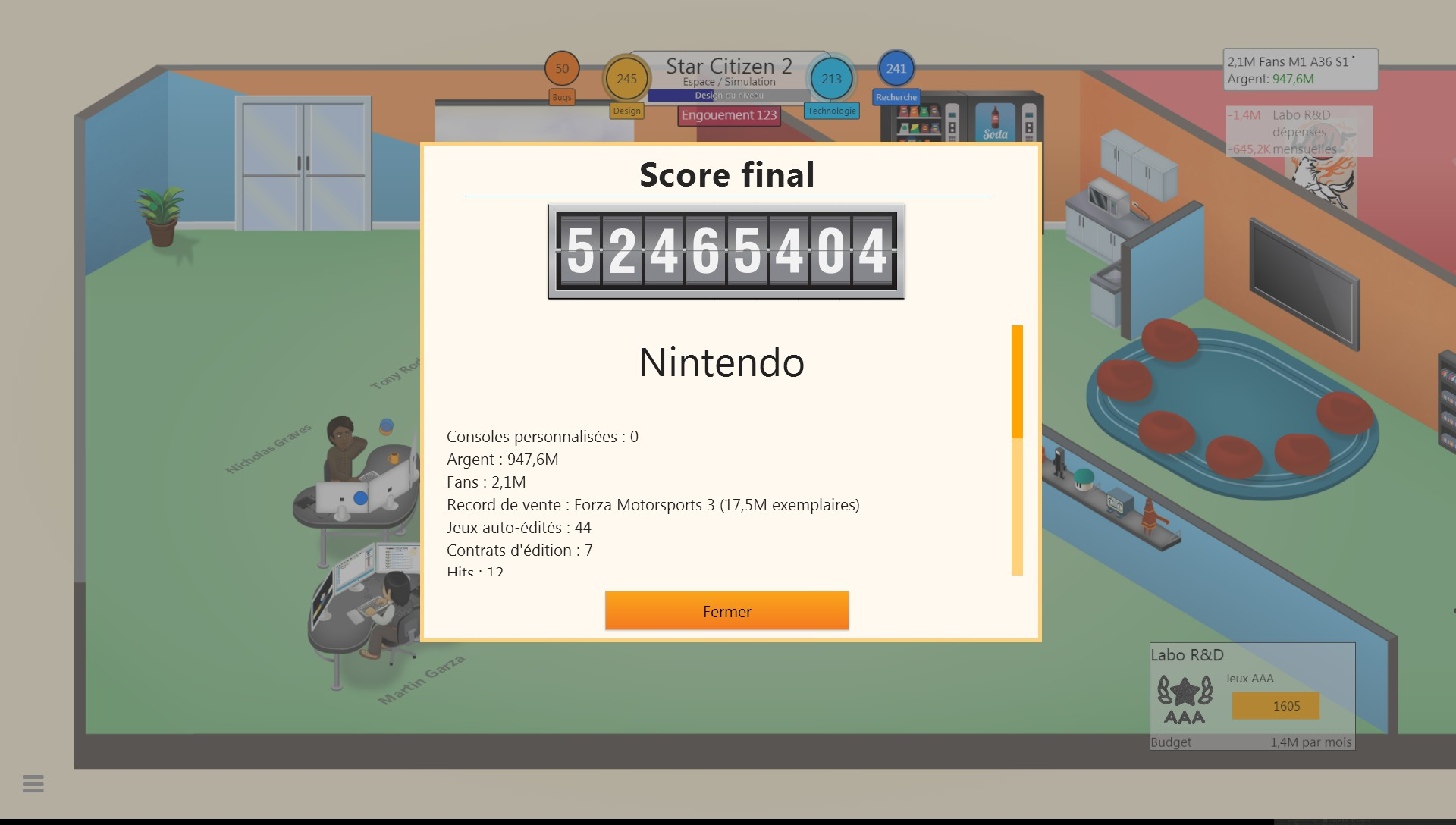 Mantalow: Game Dev Tycoon (PC) 52,465,404 points on 2015-05-25 11:49:56
