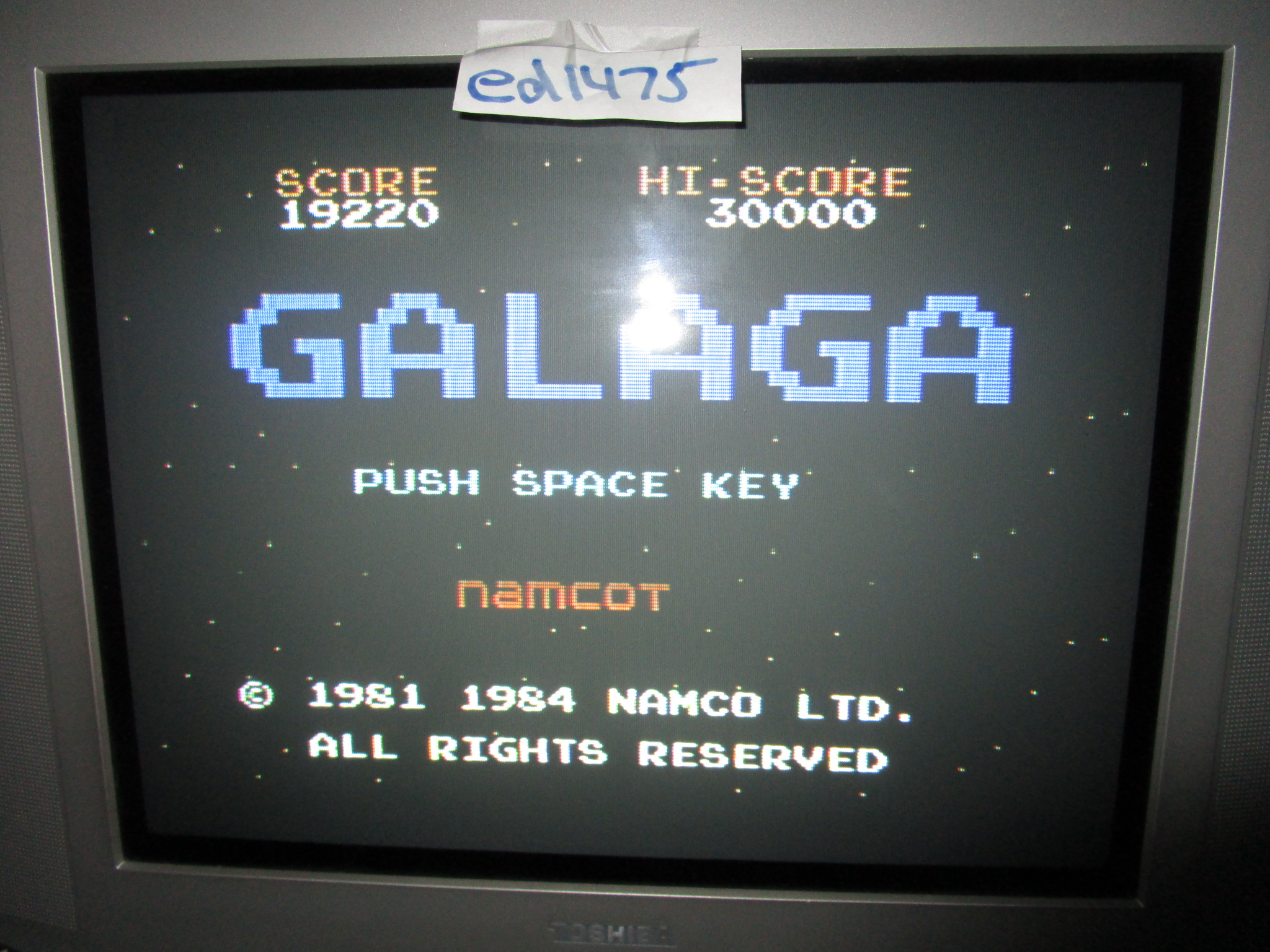 ed1475: Galaga (Colecovision) 19,220 points on 2015-05-25 18:51:29
