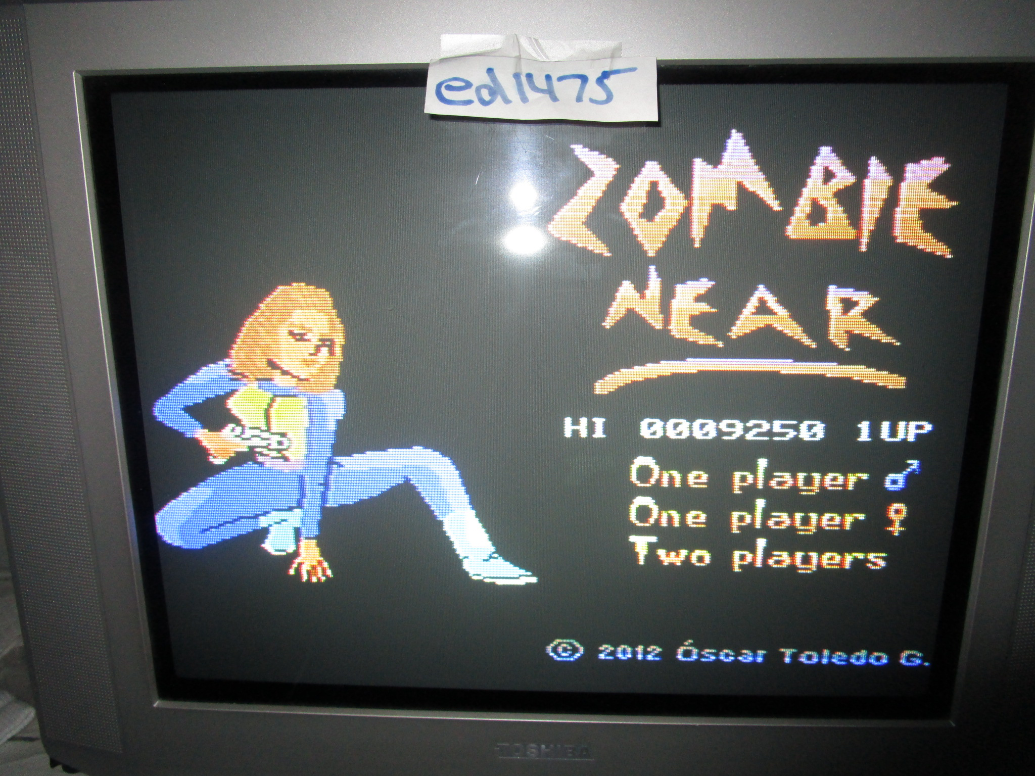 ed1475: Zombie Near (Colecovision) 9,250 points on 2015-05-25 18:58:22