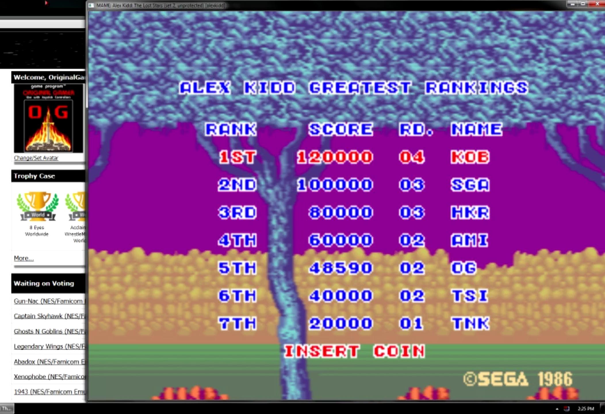 OriginalGamer: Alex Kidd: The Lost Stars [alexkidd] (Arcade Emulated / M.A.M.E.) 48,590 points on 2015-05-27 19:43:25