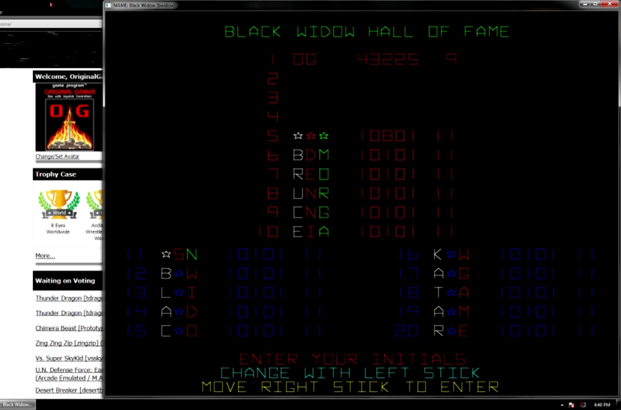 OriginalGamer: Black Widow (Arcade Emulated / M.A.M.E.) 43,225 points on 2015-05-27 19:46:15