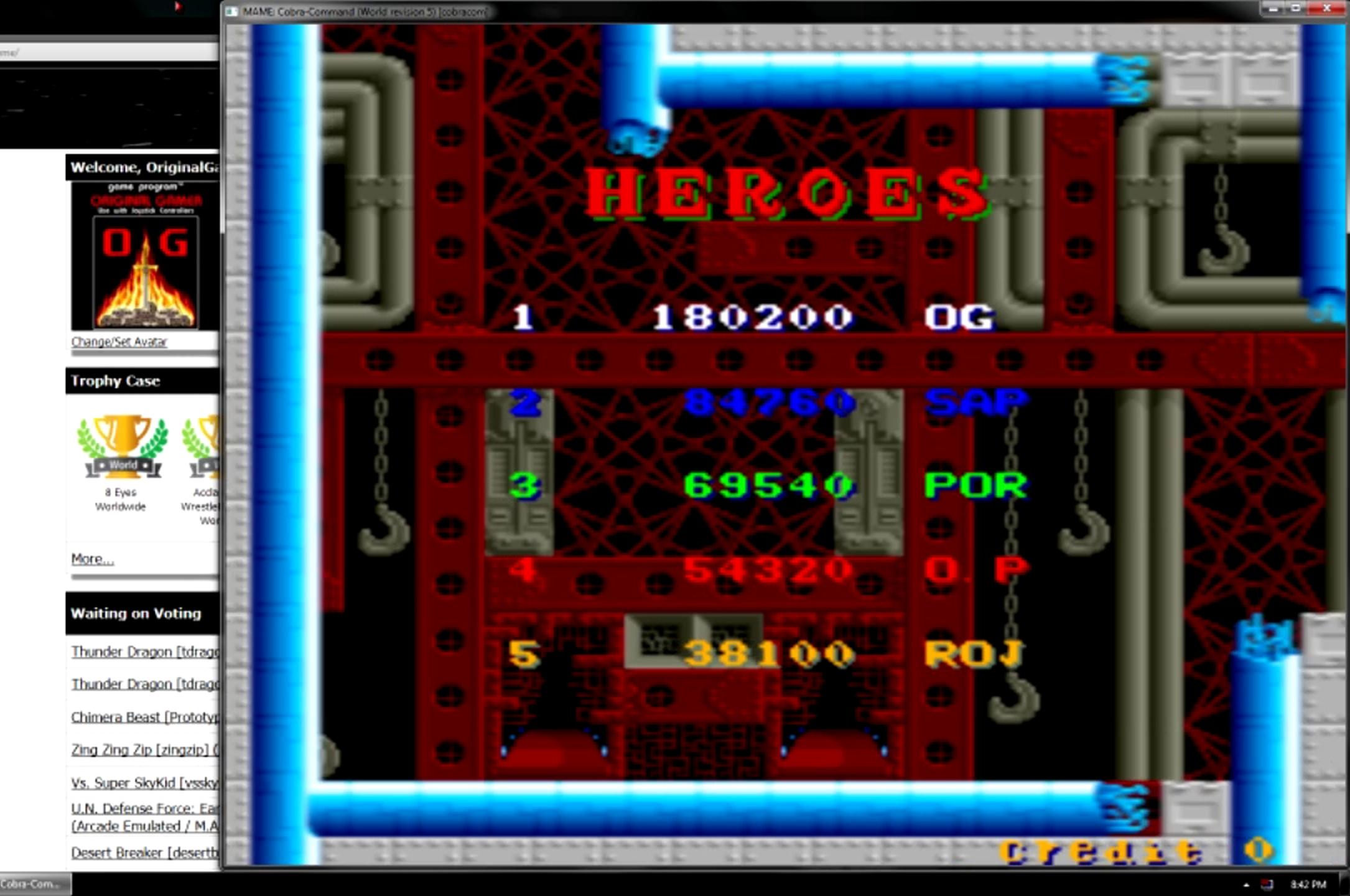 OriginalGamer: Cobra Command (Arcade Emulated / M.A.M.E.) 180,200 points on 2015-05-27 20:01:13