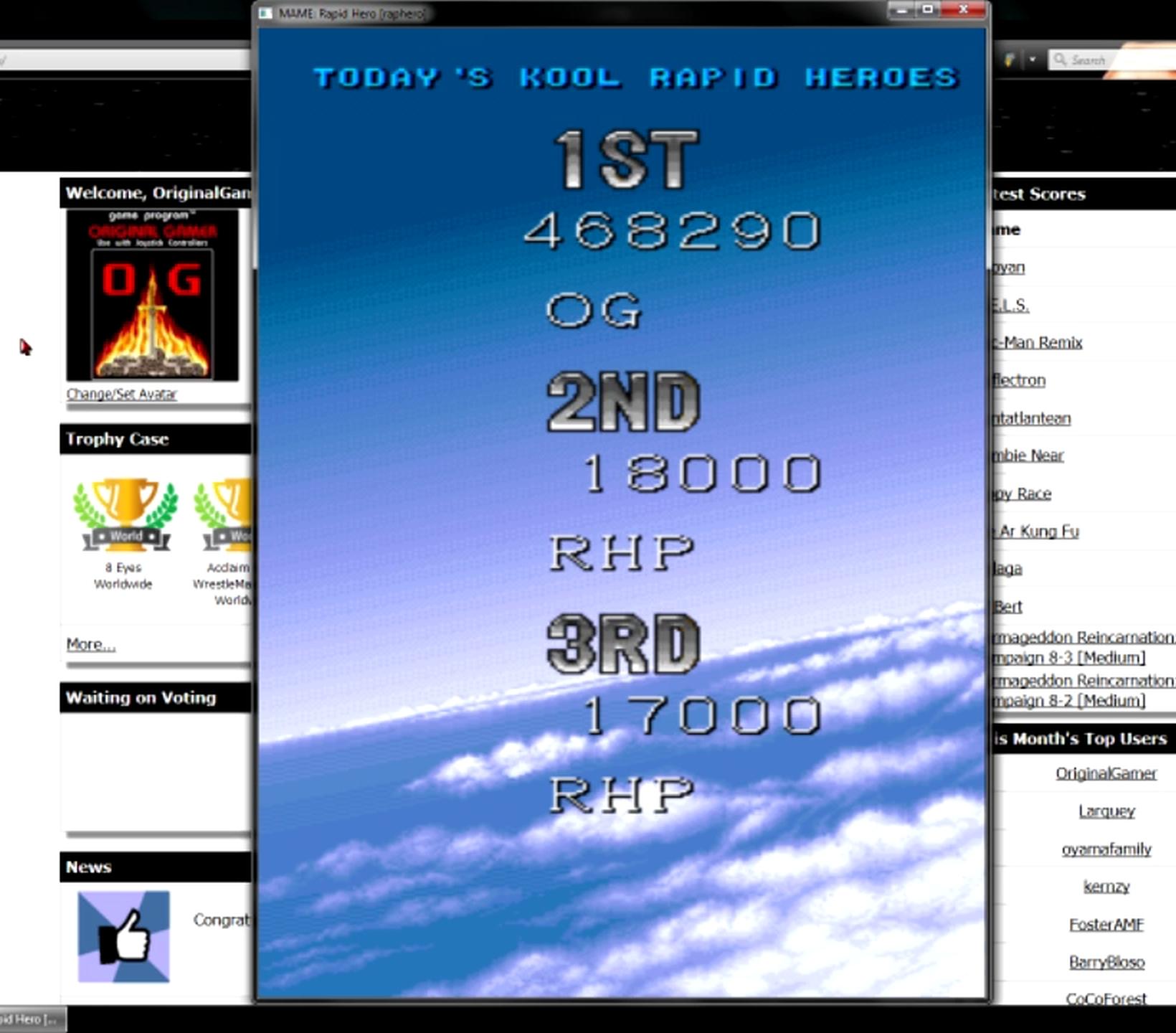 OriginalGamer: Rapid Hero [raphero] (Arcade Emulated / M.A.M.E.) 468,290 points on 2015-05-27 20:22:54