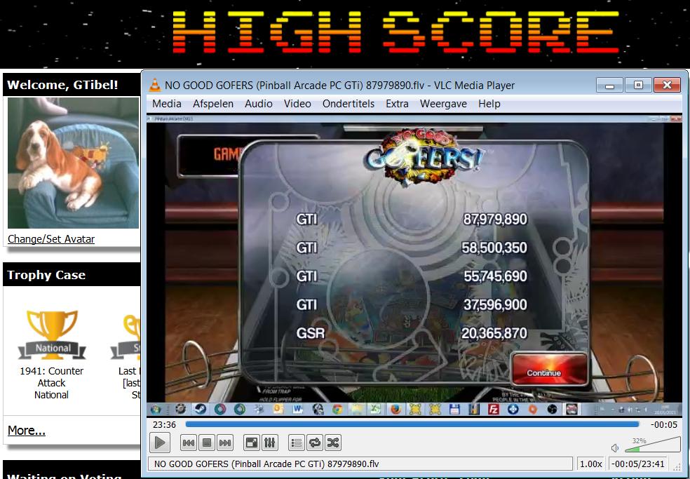 Pinball Arcade: No Good Goofers 87,979,890 points