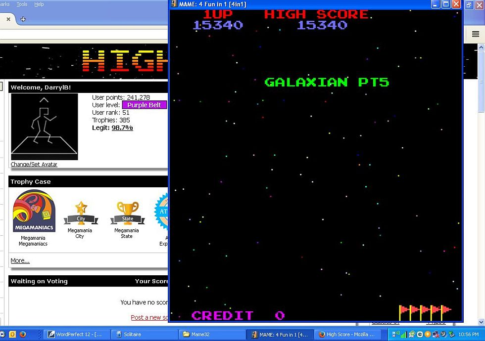 DarrylB: 4 Fun in 1: Galaxian Pt5 [4in1] (Arcade Emulated / M.A.M.E.) 15,340 points on 2015-05-28 22:59:07