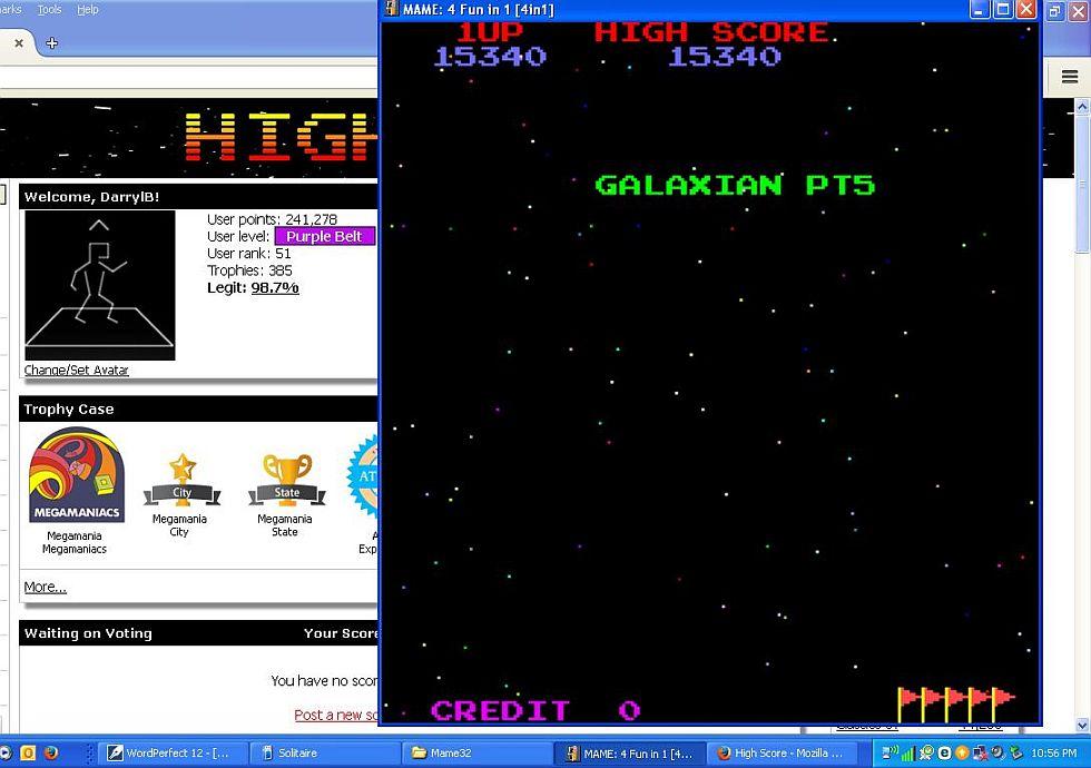 4 Fun in 1: Galaxian Pt5 [4in1] 15,340 points