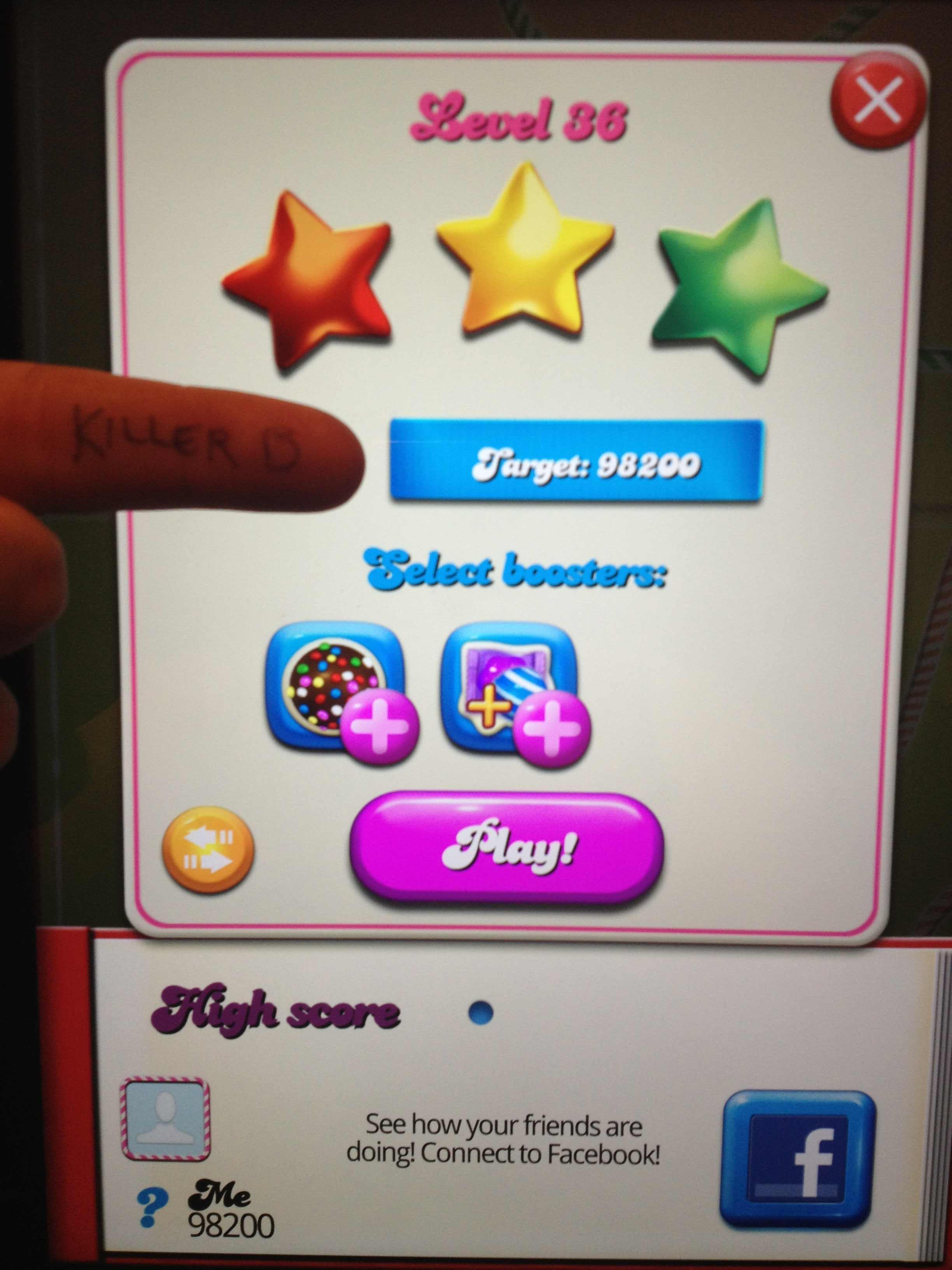 Candy Crush Saga: Level 036 98,200 points
