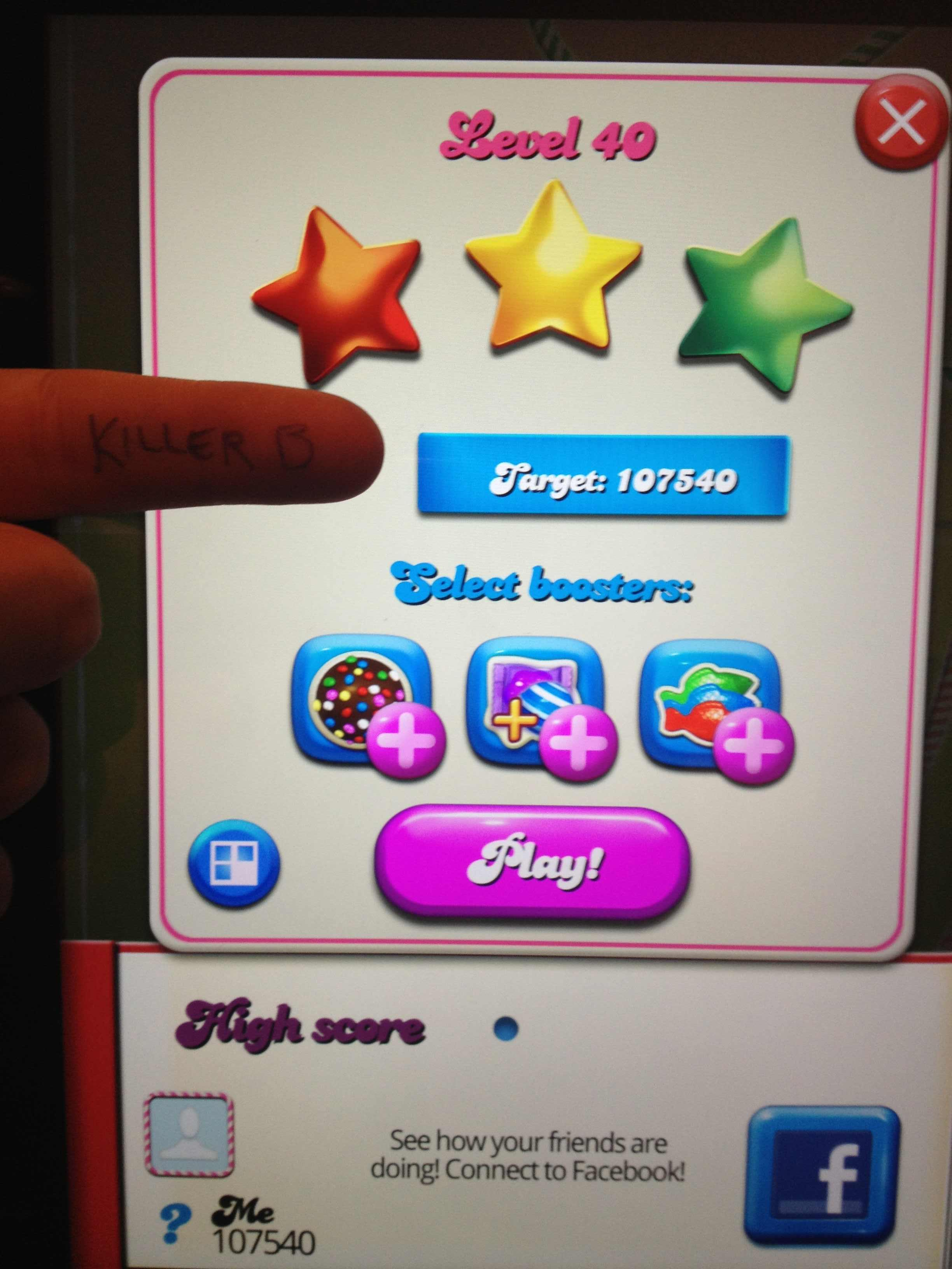 Candy Crush Saga: Level 040 107,540 points