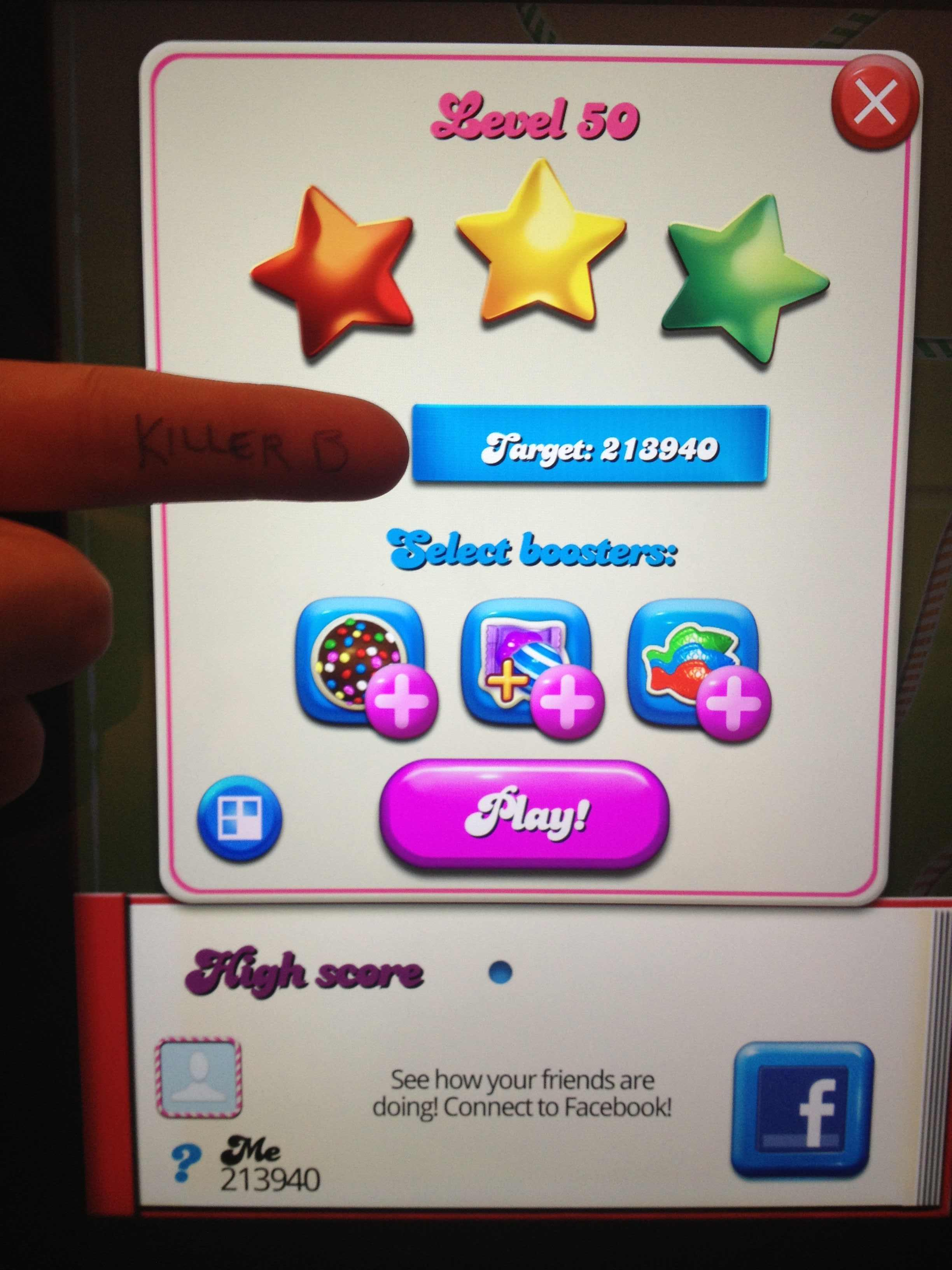 Candy Crush Saga: Level 050 213,940 points