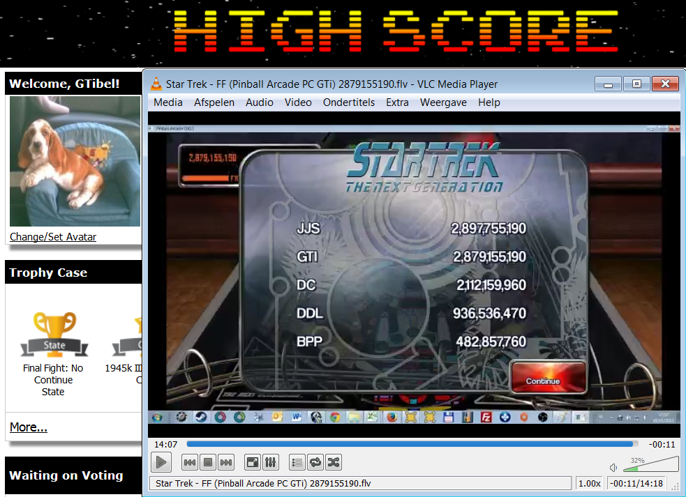 Pinball Arcade: Star Trek: The Next Generation 2,879,155,190 points