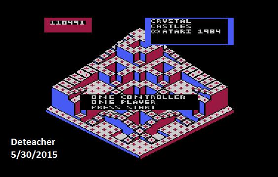 Deteacher: Crystal Castles (Atari 400/800/XL/XE Emulated) 110,491 points on 2015-05-30 14:59:18