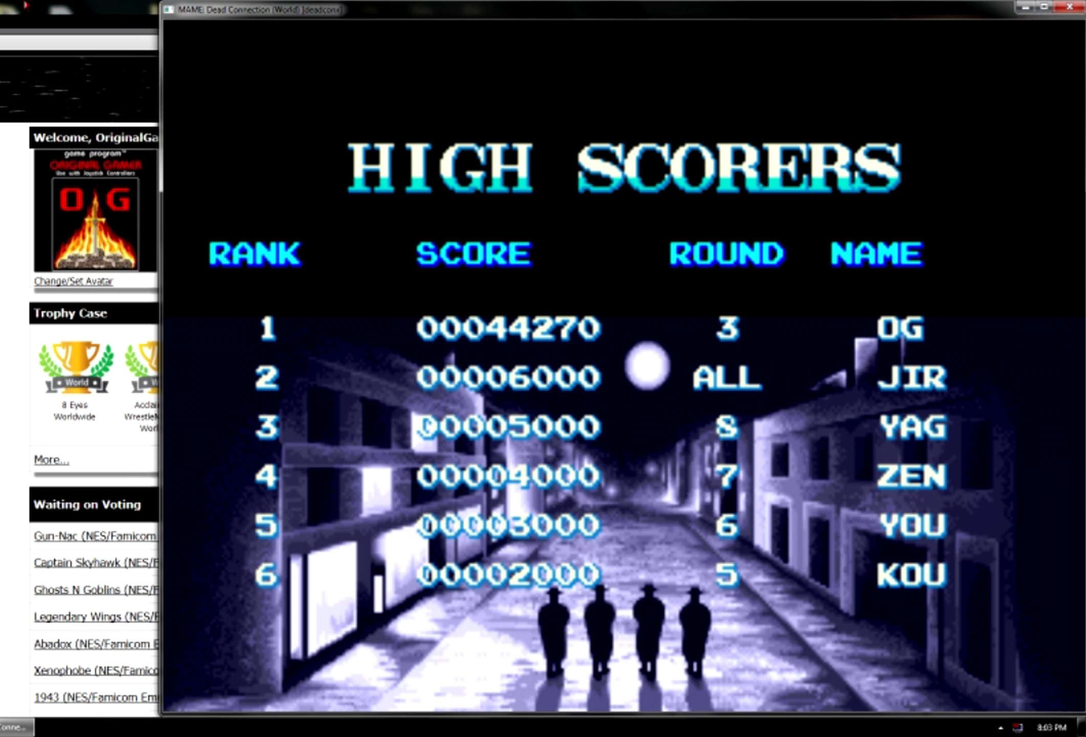 OriginalGamer: Dead Connection [deadconx] (Arcade Emulated / M.A.M.E.) 44,270 points on 2015-05-30 23:39:32