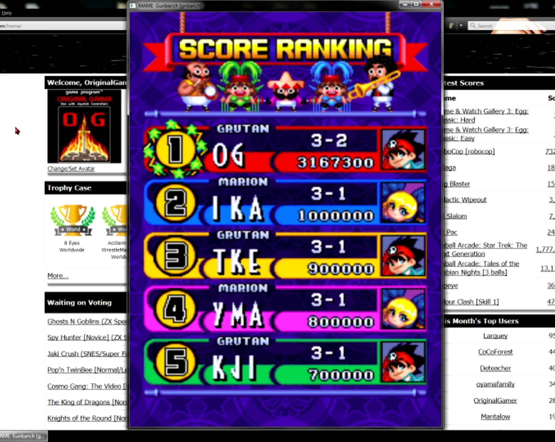 OriginalGamer: Gunbarich [gnbarich] (Arcade Emulated / M.A.M.E.) 3,167,300 points on 2015-05-30 23:40:35